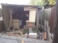 SHED CLEARANCE DURING